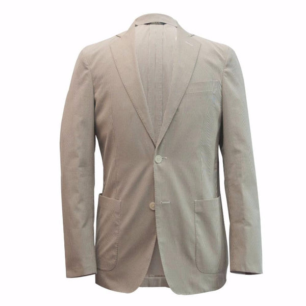 The Tan Striped Cotton Sport Coat
