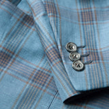 The Blue Plaid Linen Sport Coat