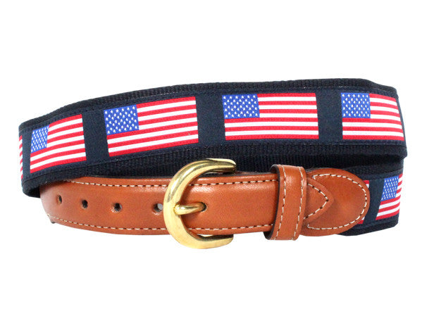 Collared Greens - Flags Belt - Belts - The American Gentleman