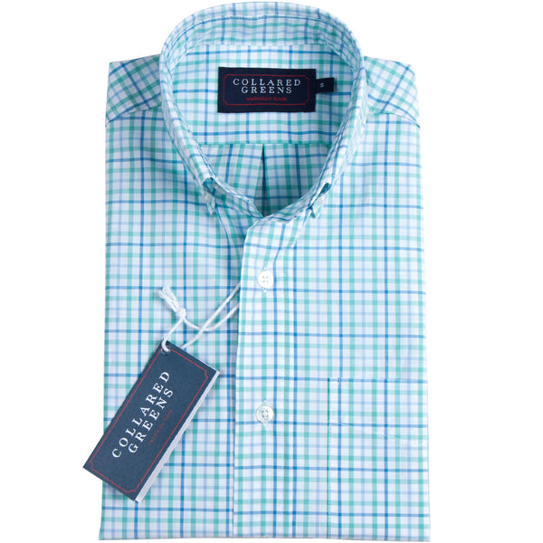 Collared Greens - The Grove Button Down - Green/Blue - Shirts - The American Gentleman - 1
