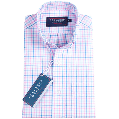 Collared Greens - The Grove Button Down - Blue/Pink - Shirts - The American Gentleman - 1