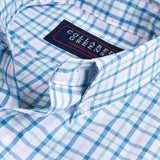 Collared Greens - The Grove Button Down - Blue/Teal/Pink - Shirts - The American Gentleman - 2