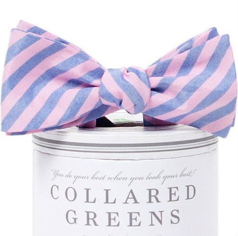 Collared Greens - Kaiwah Bow Tie - Pink / Blue - Bow Tie - The American Gentleman