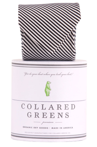 Collared Greens - Signature Series - Black Stripe - Ties - The American Gentleman - 1