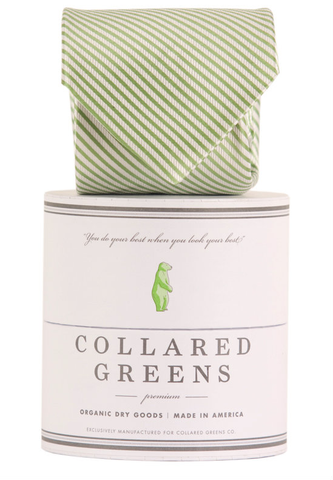 Collared Greens - Signature Series - Green Stripe - Ties - The American Gentleman - 1