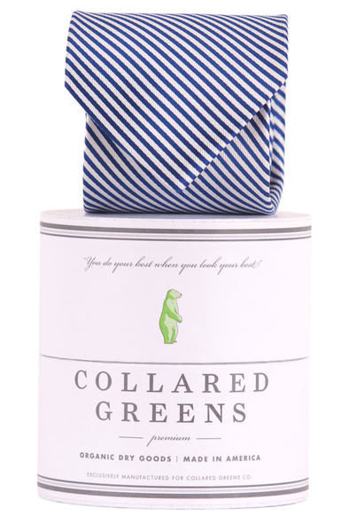 Collared Greens - Signature Series - Navy Stripe - Ties - The American Gentleman - 1