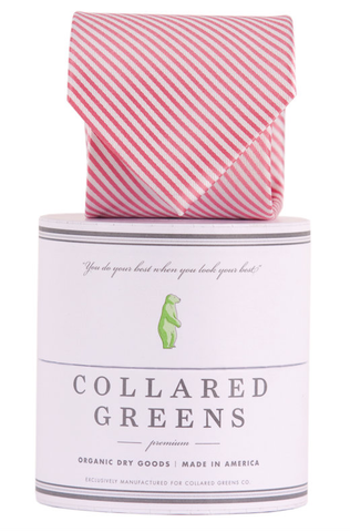 Collared Greens - Signature Series - Pink Stripe - Ties - The American Gentleman - 1