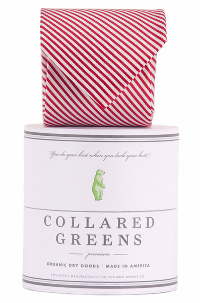 Collared Greens - Signature Series - Red Stripe - Ties - The American Gentleman - 1
