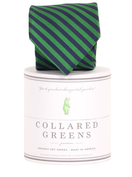 Collared Greens - Squaw Necktie - Navy / Green - Ties - The American Gentleman - 1