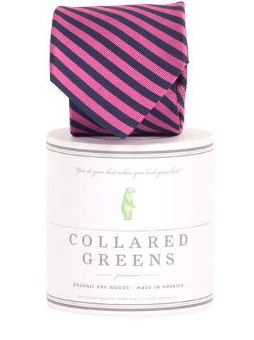 Collared Greens - Squaw Necktie - Navy / Pink - Ties - The American Gentleman - 1