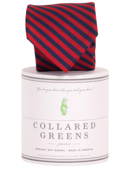 Collared Greens - Squaw Necktie - Navy / Red - Ties - The American Gentleman - 1