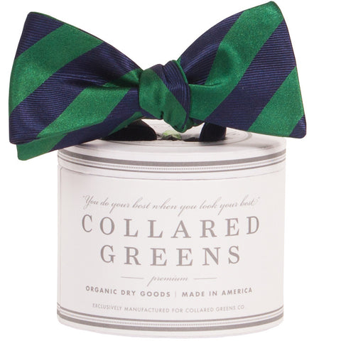 Collared Greens - Tamarack Bow Tie - Navy / Green - Bow Tie - The American Gentleman - 1
