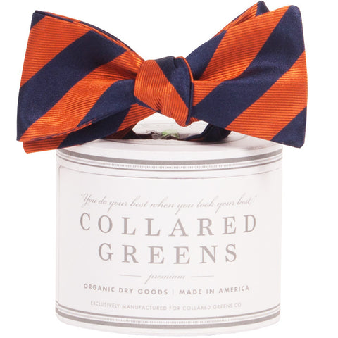 Collared Greens - Tamarack Bow Tie - Navy / Orange - Bow Tie - The American Gentleman - 1