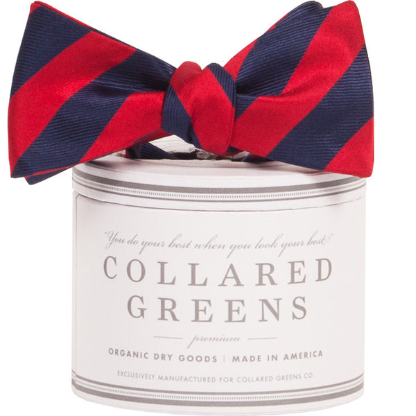 Collared Greens - Tamarack Bow Tie - Navy / Red - Bow Tie - The American Gentleman - 1