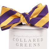 Collared Greens - Tamarack Bow Tie - Purple / Gold - Bow Tie - The American Gentleman - 2
