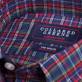 Collared Greens - The Wolfe Button Down - Navy/Red - Shirts - The American Gentleman - 2