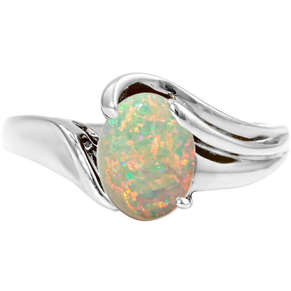 Oval Opal Bypass Ring