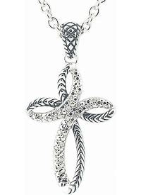 Andrea Candela Twisted Diamond Cross Necklace