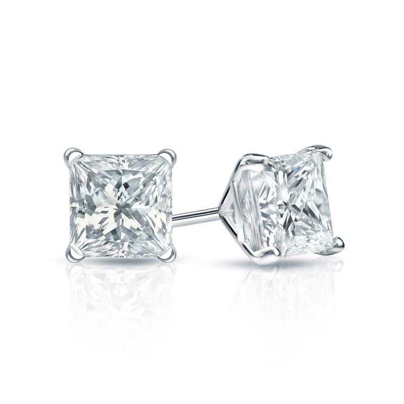 Princess Natural Diamond Martini Set Studs