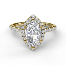 Load image into Gallery viewer, Marquise Diamond With Halo Engagement Ring