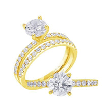 Load image into Gallery viewer, Round diamond accented solitaire