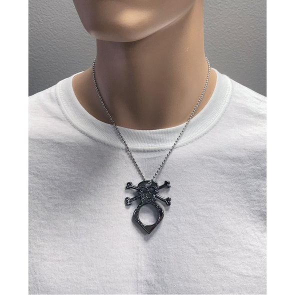 Skull Necklace Knuckle or Self Defense Keychain