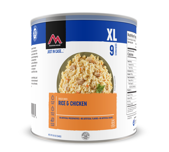 Mountain House Rice & Chicken - Freeze Dried #10 Can Gluten Free