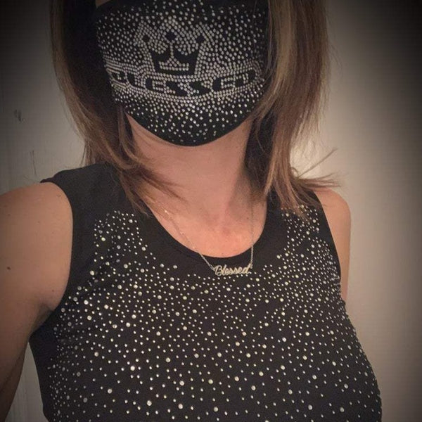 Blessed Logo Bling Mask