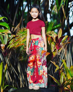 Long Red Palazzo Pants