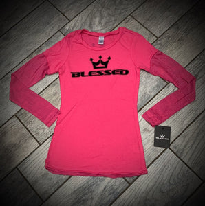 Blessed Girls Burnout Long-Sleeves