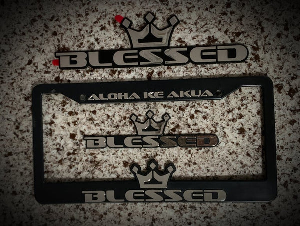 Blessed License Plate Frames & Emblems