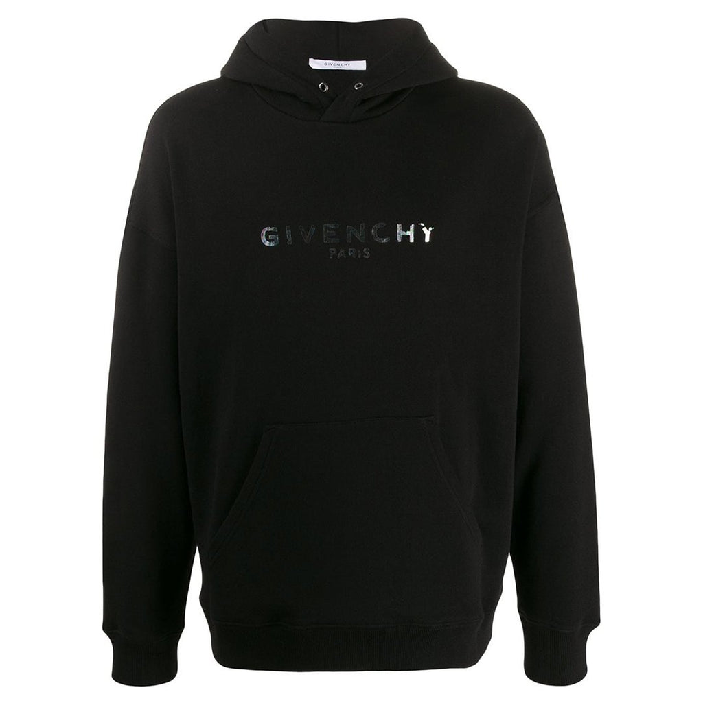 GIVENCHY IRIDESCENT LOGO HOODIE