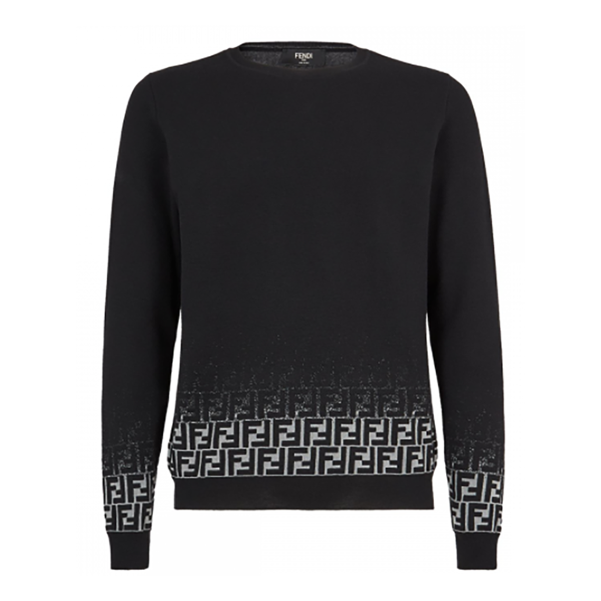 FENDI FADED FF MOTIF JUMPER IN BLACK