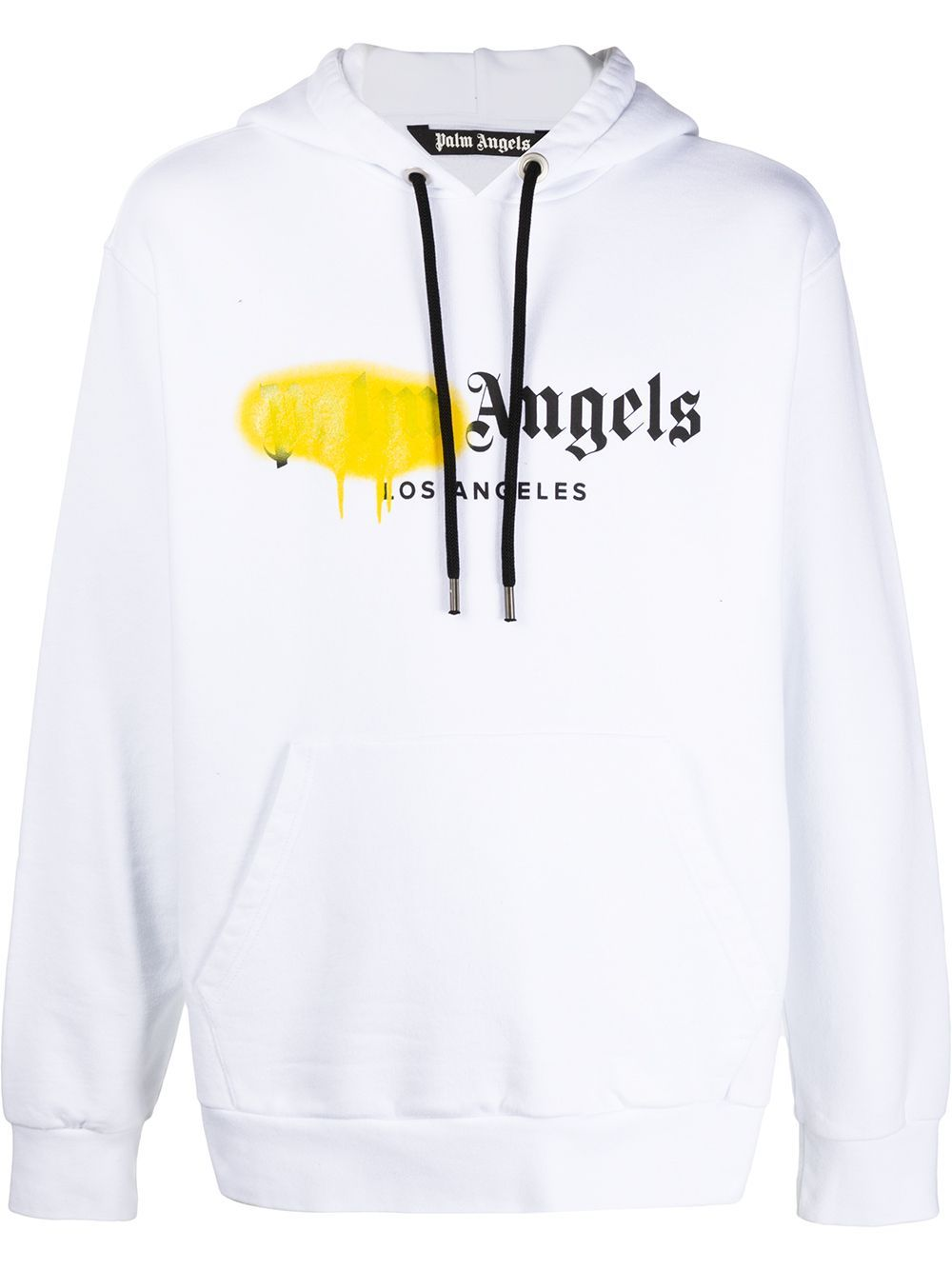 Palm Angels Hoodie Spay Yellow