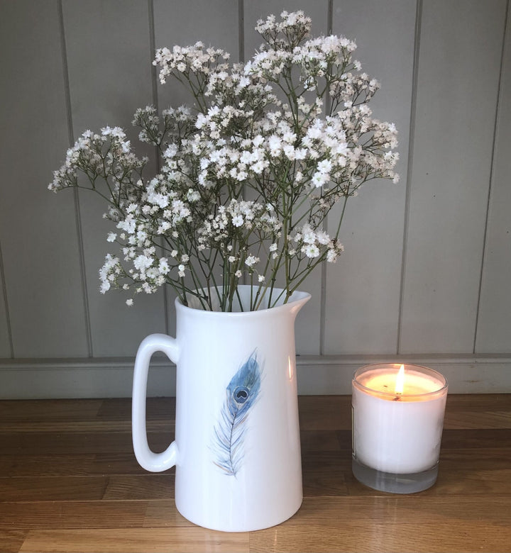 Peacock Feather Jug