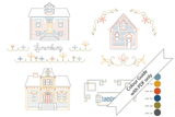 Houses of Lunenburg Embroidery Pattern