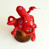 Needle Felted Octopus - Friday August 16, 10-1pm