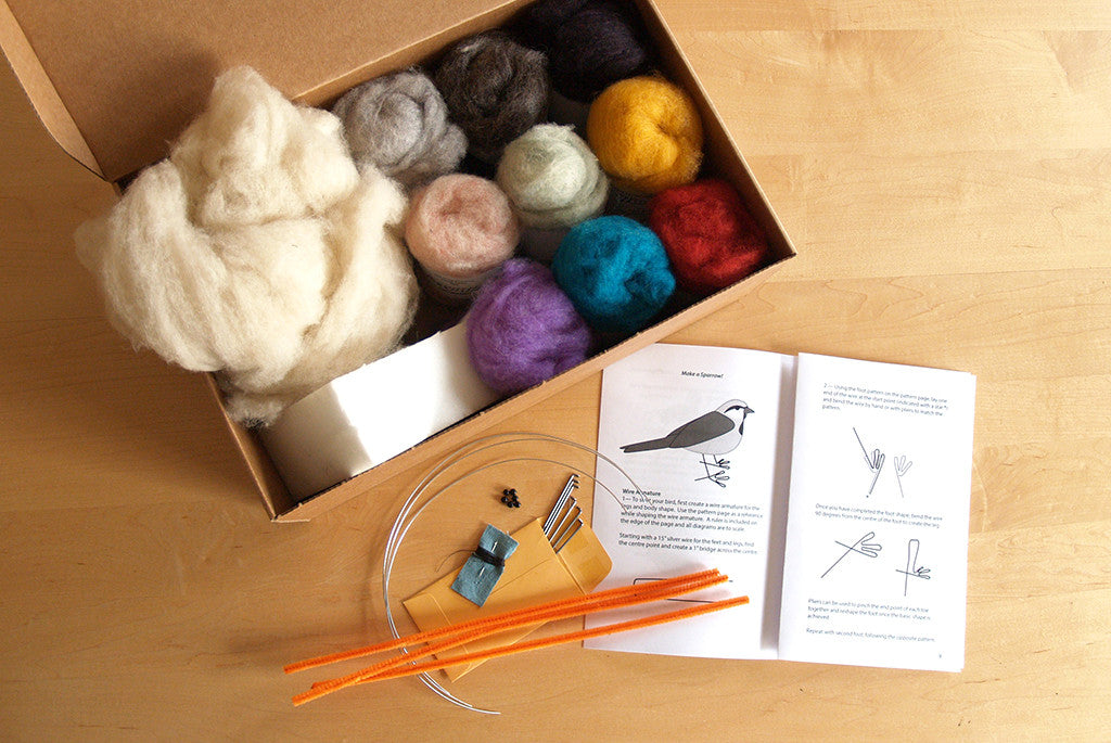 Special Family Size Bulk Needle Felting Supply Boxed Kit