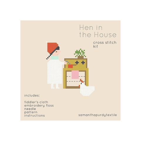 Hen in the House DIY Cross Stitch Kit