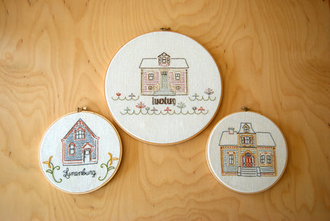 Houses of Lunenburg Embroidery Kit