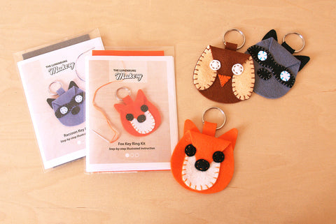 Animal Key Ring D.I.Y. Felt Sewing Kit