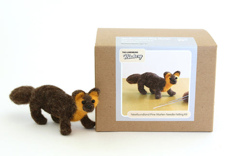 Newfoundland Pine Marten Needle Felting DIY Kit