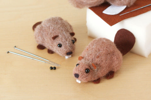*NEW* Needle Felting Starter Kit - Canadian Beavers