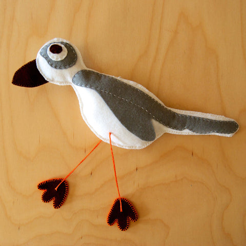 Piping Plover D.I.Y. Felt Sewing Kit