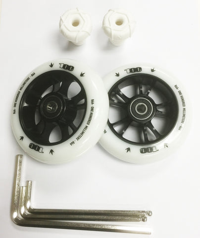 Envy One 100mm Wheel Set Base Pack - Kicks Pro Scooters