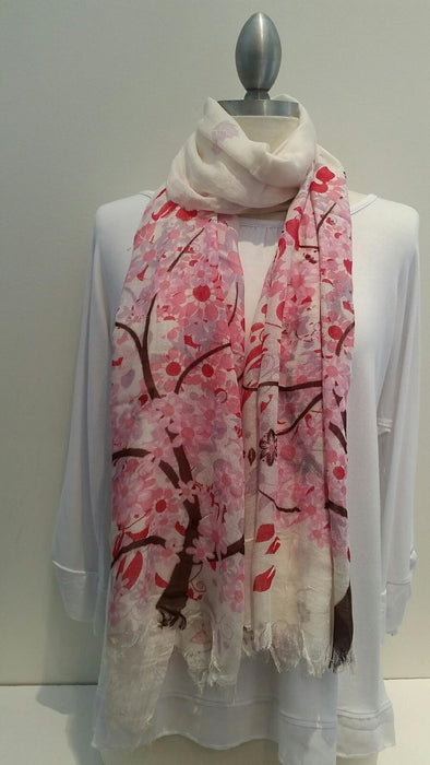 "Wayi Bamboo light weight "" Cherry Blossom"" scarf"