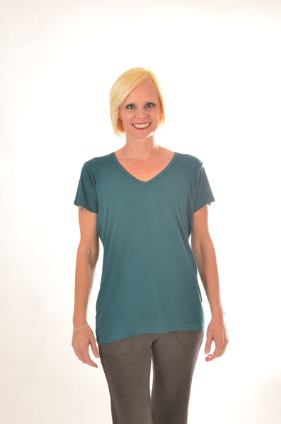 Women Wayi Bamboo V-neck T-shirt