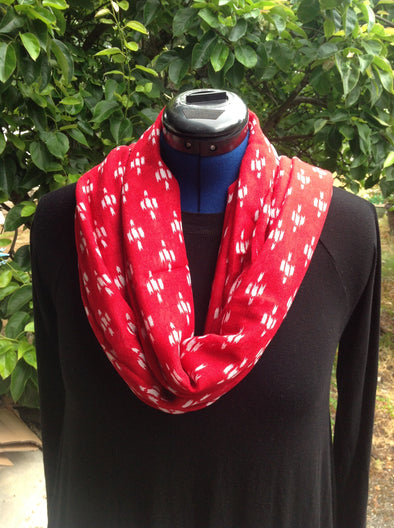 "Wayi Bamboo light weight "" Red Sparkle"" scarf"