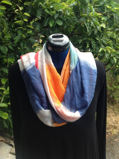 "Wayi Bamboo light weight "" Multi colors ink"" scarf"