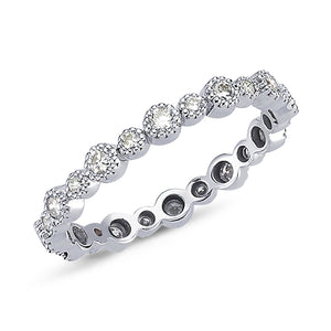 14kt white gold & diamond eternity wedding band